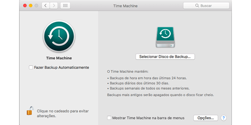 Backup no Mac
